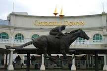 The Kentucky Derby Museum is just 15 minutes away -- watch Secretariat's iconic race, or see the horses work out in the early dawn light!