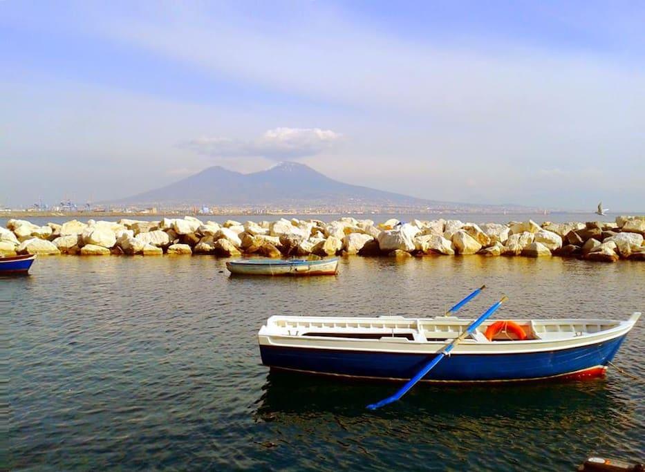 Vesuvius sea view