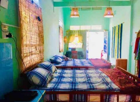 Family room River view. Papaya homestay