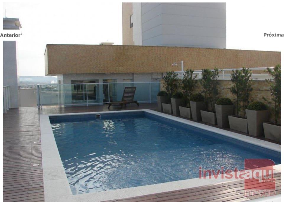piscina cobertura 14º andar