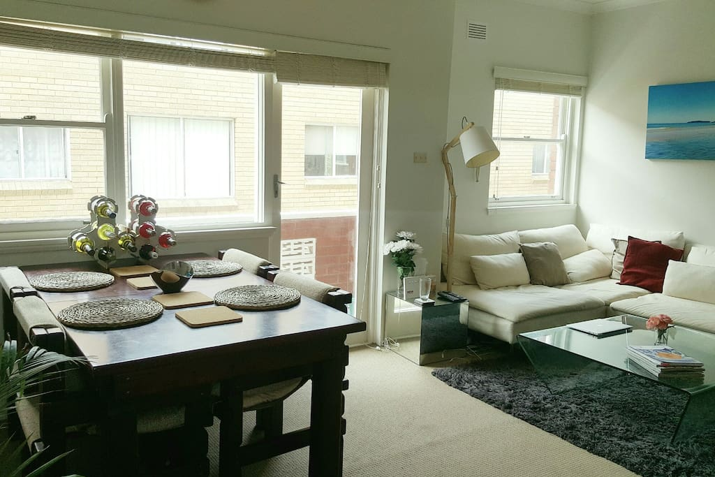 Large dining room table and view from front entry.