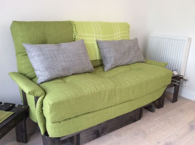 Seating area - this futon is a comfortable double bed.