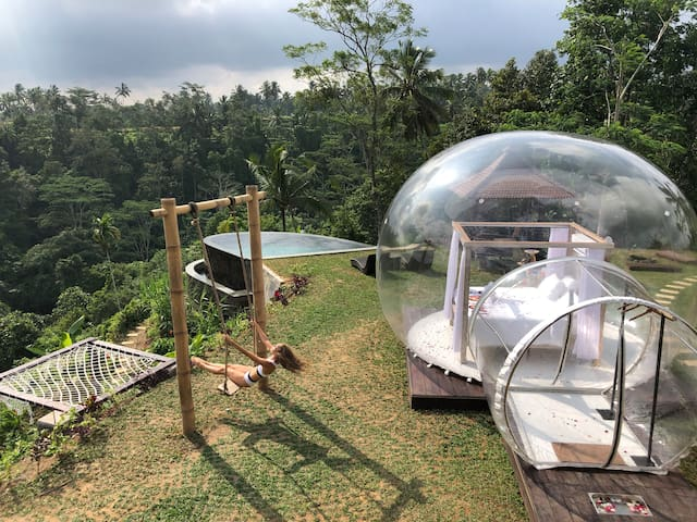 Romantic bubble  tent with privat pool (1)