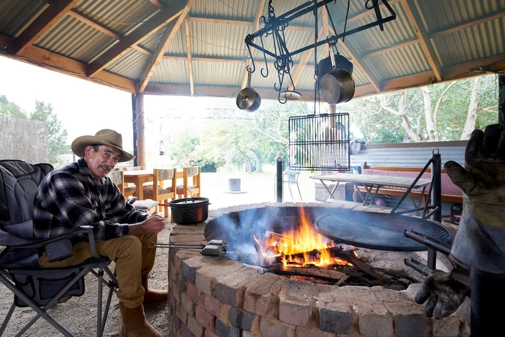 Geoff will set up the fire for your BBQ - or enjoy the outdoor space with your family and friends