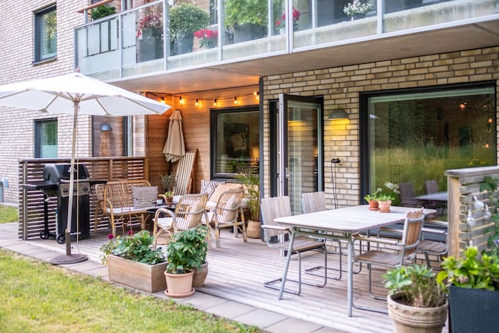 Apartment with great outdoor space