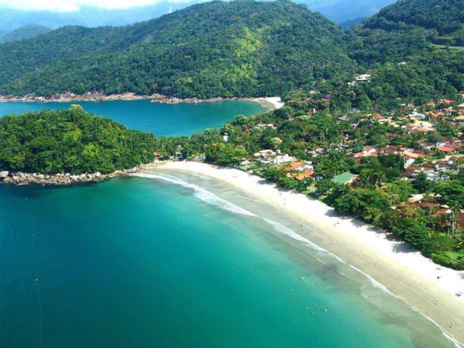 Acesso a pé para 3 praias - Lázaro, Domingas Dias e Sununga