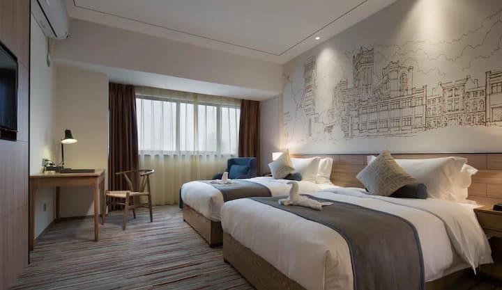 复古设计/双床房间/靠近很多风景区/旅行的不二选择(6)
