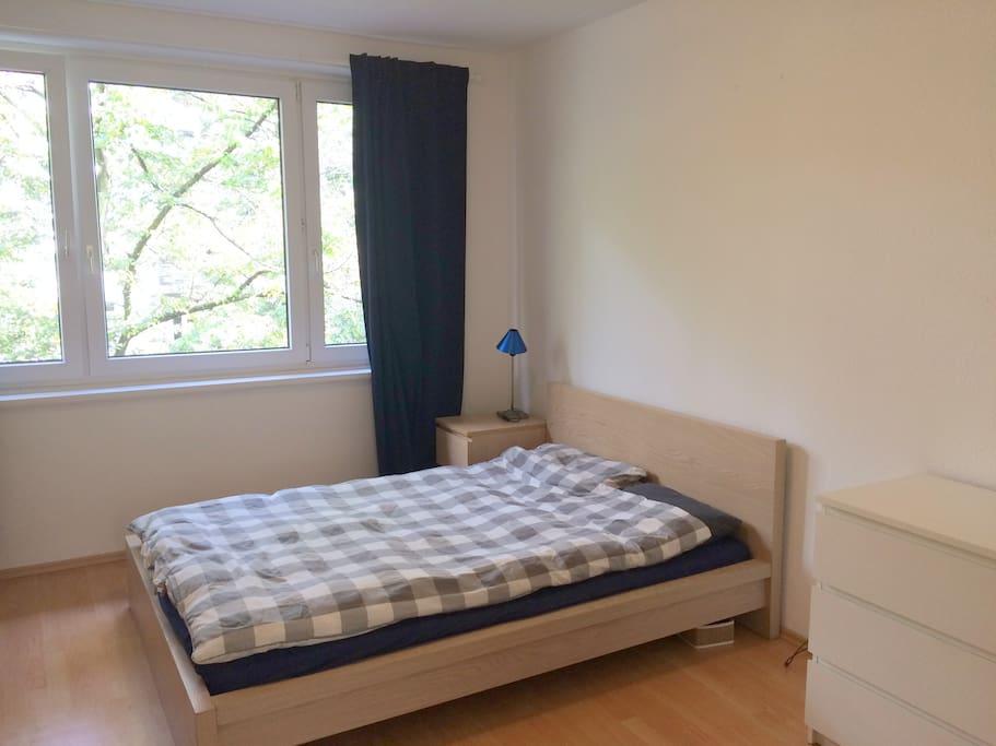 Bright spacious bedroom