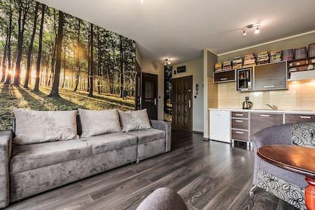 Przytulne, dwupokojowe mieszkanie na parterze.