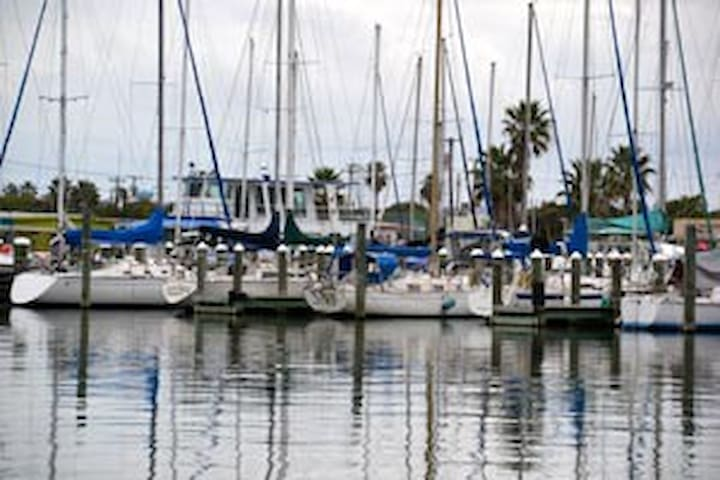 Rockport Marina, minutes walk from house