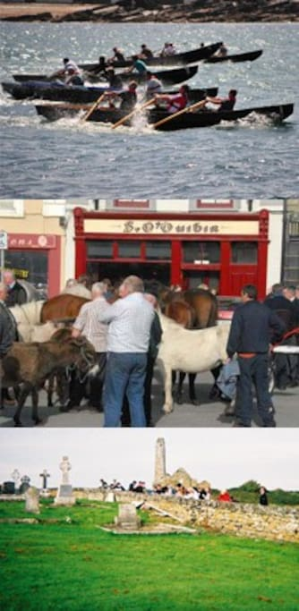 Horse Fair in Kilrush Currach Racing Scattery Island Monastic Settlement