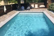 Accès à notre piscine