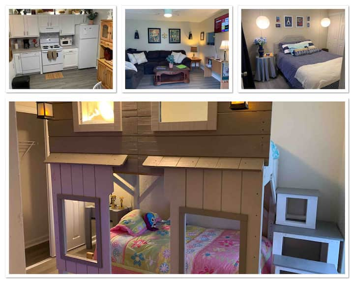 Toys/Comfy/Clean/Affordable 2 story condo for 5!