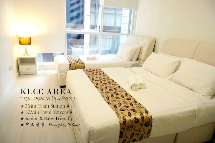 #B1 Cozy 1 Bedroom Apartment (4-6pax) KLCC