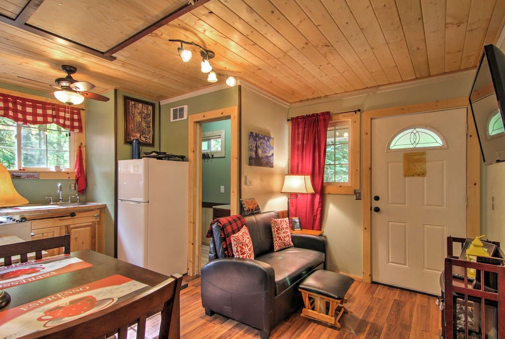 Relish the home's quaint accommodations that boast the comforts of home.