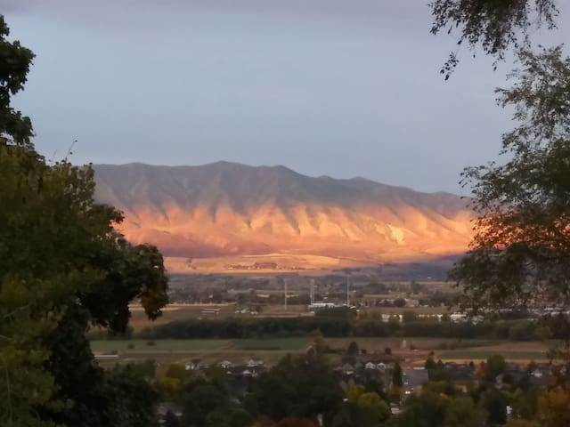 View of the Wellsville Mountains