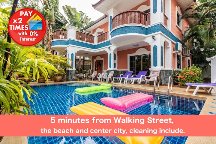 6 Bedrooms Z 5 min Walking Street & beach ★★★★★
