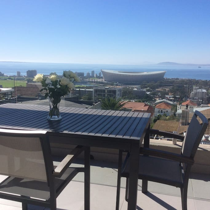 Balcony with views of Cape Stadium, Atlantic Sea Board, Waterfront and Harbour