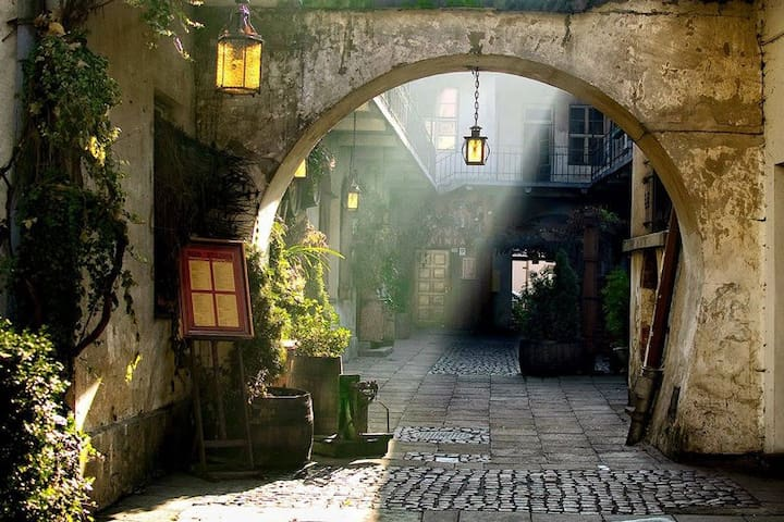 Magic Courtyard in the heart of Jewish District 1