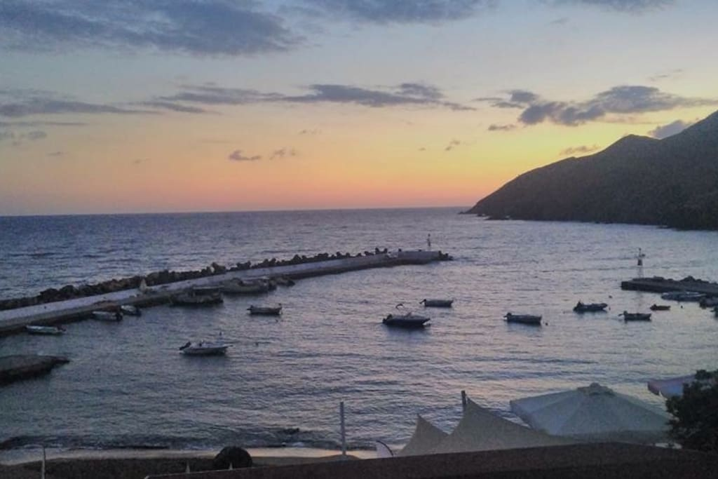 The small traditional fish harbor of Panormo just 5' minutes walking distance from the Apartment
