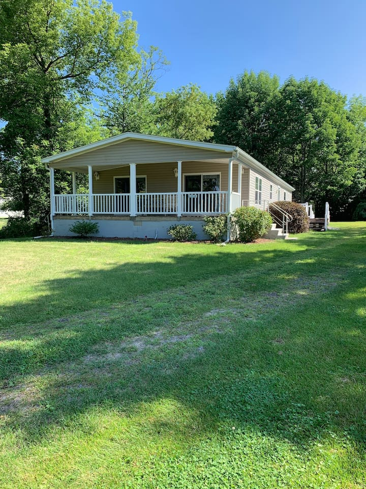 Set in a quiet wooded 1 acre lot across the road from Seneca Lake. This home has no lake access, however, Beautiful Sampson State Park is only a 5 minute drive.  There are more than a dozen wineries and several breweries within a 15 minute drive.