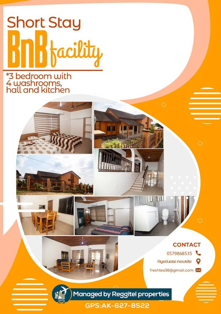 Short stay and BnB Facility