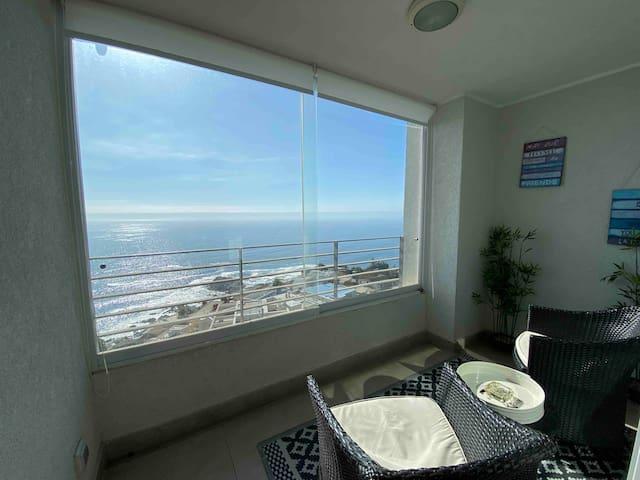 Hermoso departamento en Reñaca con vista al mar