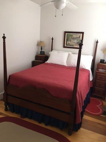 Full Size bed in bedroom