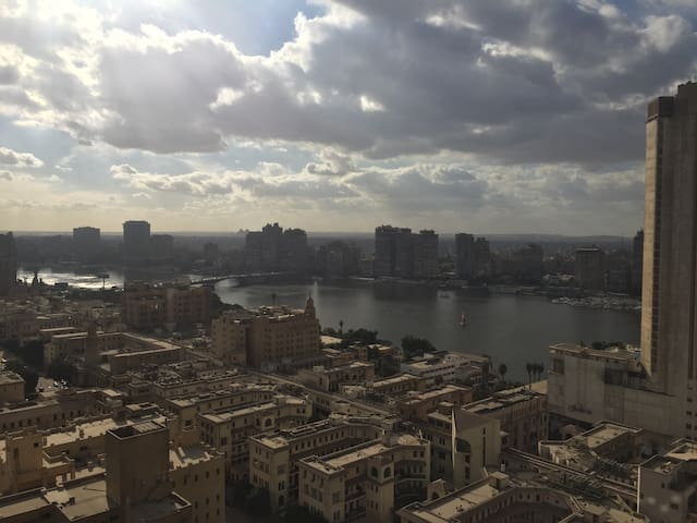 Stunning Garden City Apartment Nile and City views - Cairo Governorate - Flat