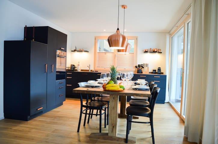 New apartment in Wengen. Wengen is car free!