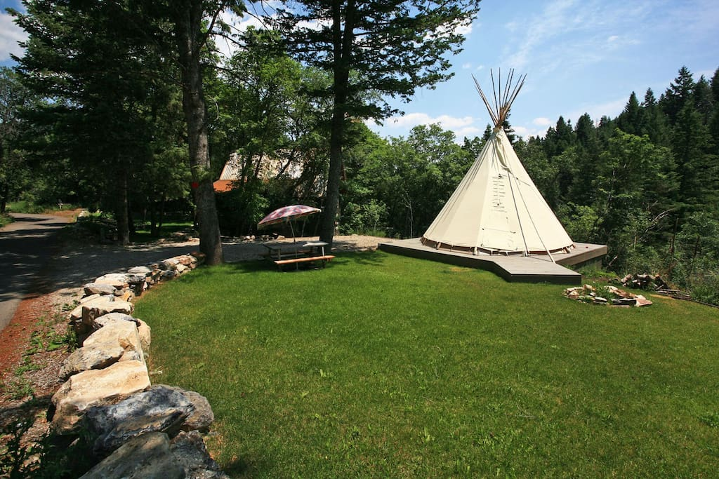 The only Sundance Cabin with a Tipi that we are aware of. Who gets to spend a night under canvas?