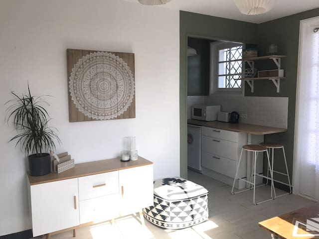 Studio Hendaye Plage 2pers (parking/balcon/wifi)