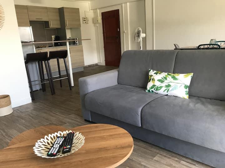 Appartement T2 cosy avec vue imprenable (St Denis)
