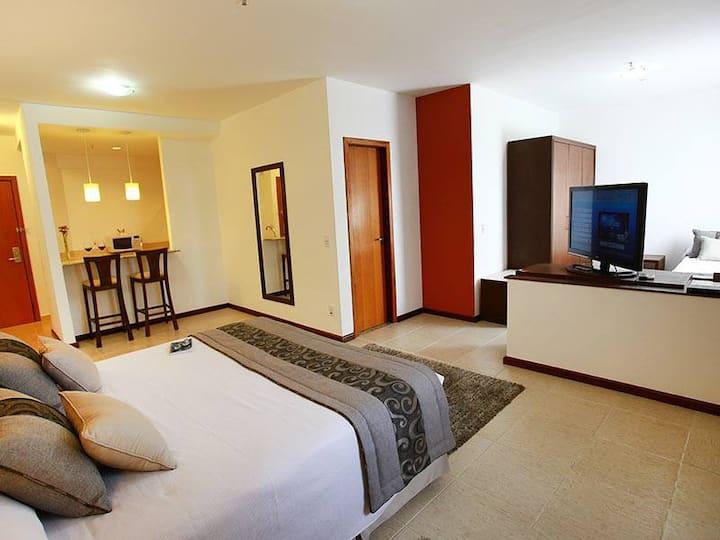 Apto com possibilidade de serviços de hotelaria!