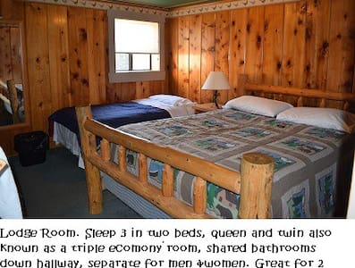 COZY lodge room - sleep 2 or 3 -Tamarack Lodge