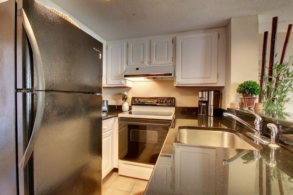 Well Equipped Kitchen, Hard Surface Counter Top!