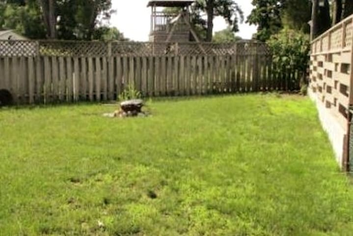 Fully fenced yard to keep children and pets safe.