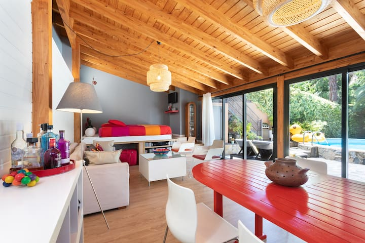 Bright area with natural light
