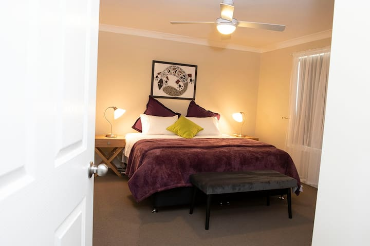 King size bedrooms that can be made up as split-kings, if you require two seperate beds