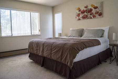 Newly furnished 2-bedroom 2-bathroom apartment in Millbrae, one of the most convenient locations in the bay area. It's 1 minute from the BART-train station Millbrae, and about 5-6 minutes from SFO by car. Many restaurants and stores are nearby.