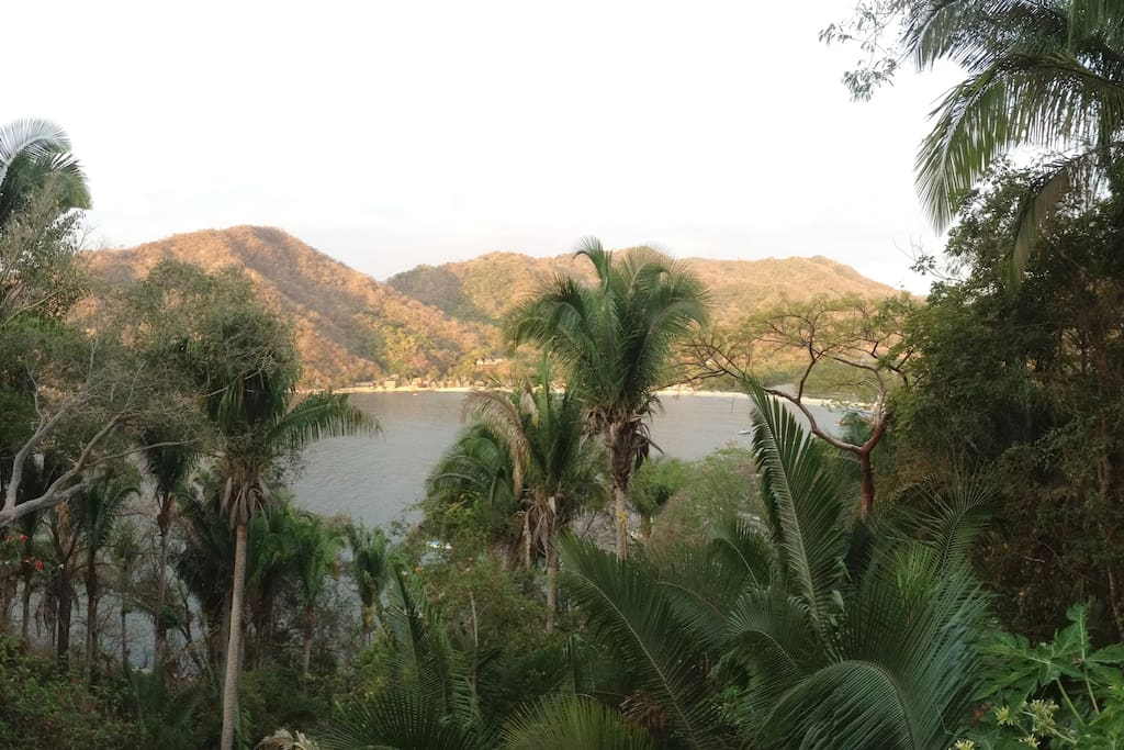 View of Yelapa bay from upstairs bedroom