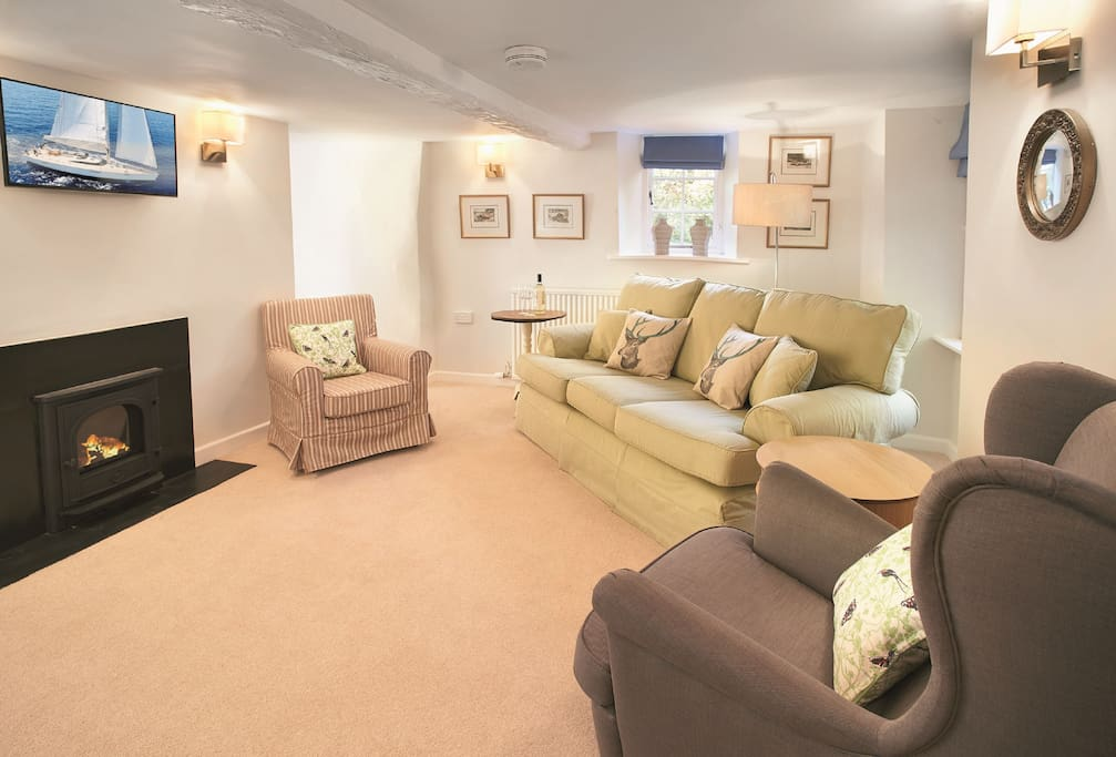 Ground floor:  Cosy sitting room with gas stove