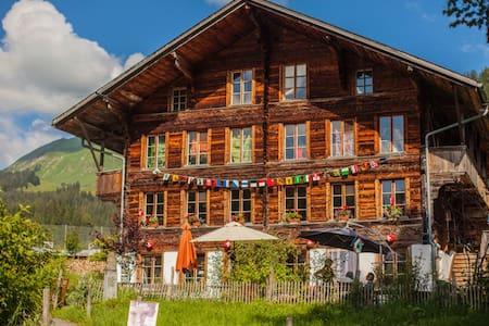 Ferienwohnung auf Bio-Bauernhof Schweizer Berge - Habkern - 아파트