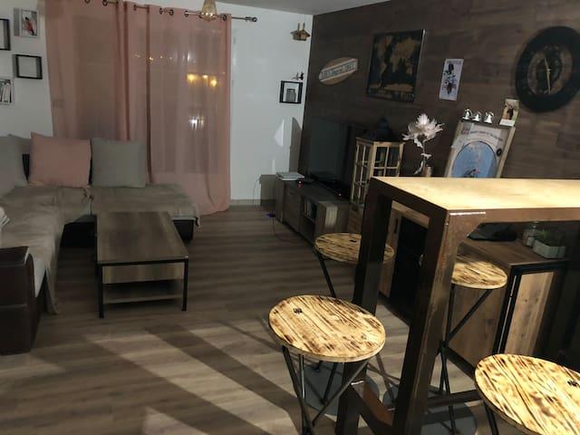 Chambre dans appartement cocooning à riorges (42)