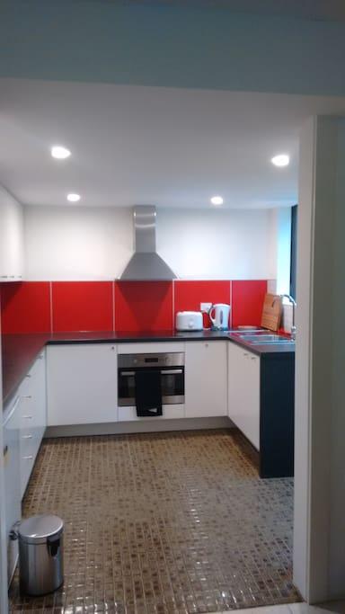 Newly installed kitchen