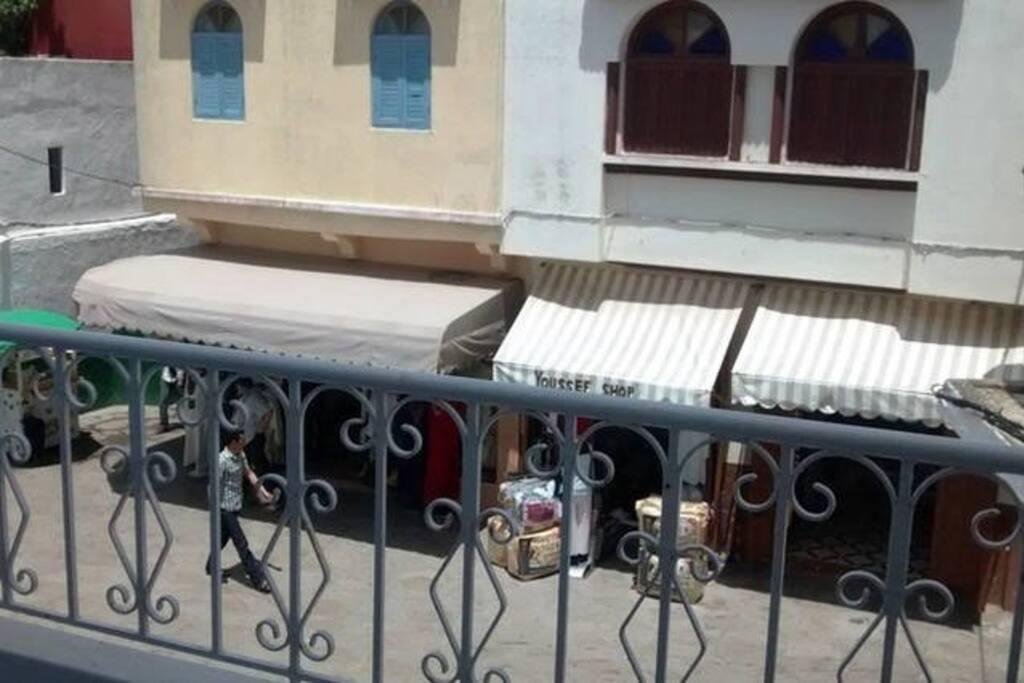 Vista desde el balcón.