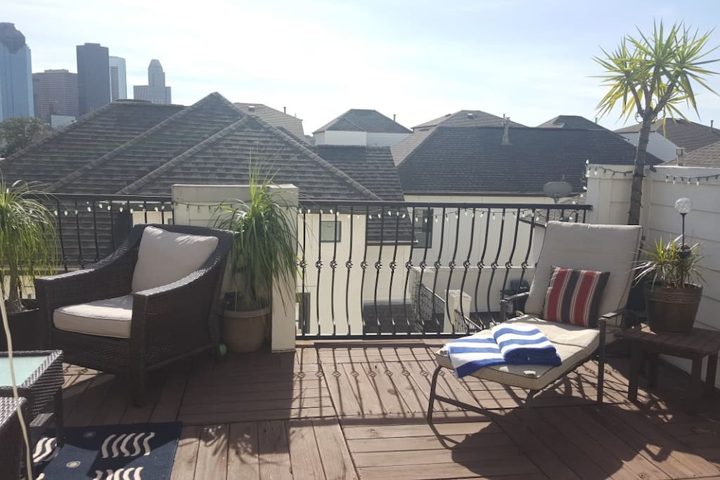 Soak up the sun on the roof deck