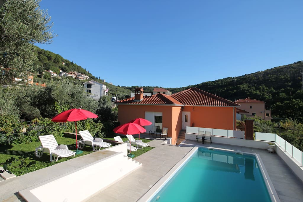 The pool 34m2  in natural environment with mountain view