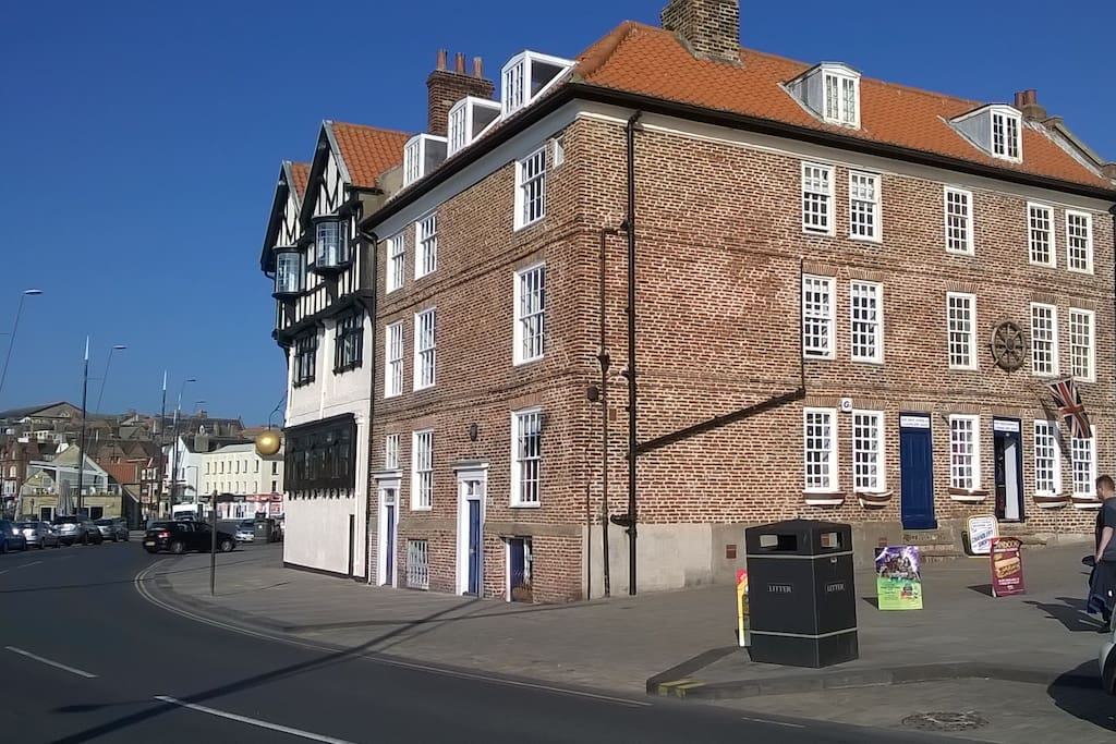 Listed building overlooking the harbour