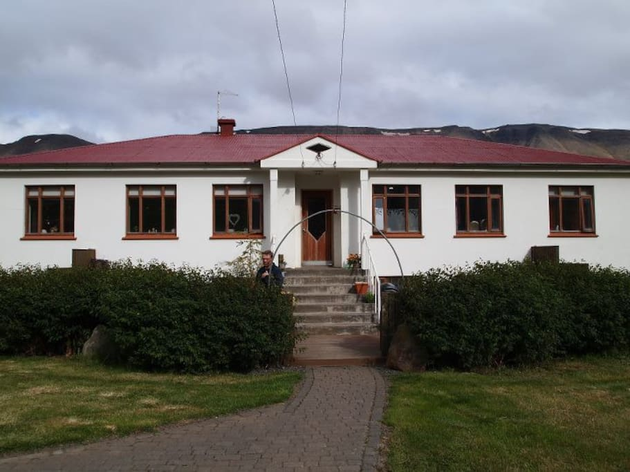 Front view of the farm